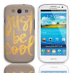 Just Be Cool Pattern Hard Case with 3-Pack Screen Protectors for Samsung Galaxy S3 I9300