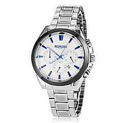 남자의 간단한 라운드 합금 밴드 석영 아날로그 손목 시계 다이얼