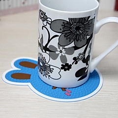 Tegneserie kanin Design Cup Mat (tilfældig farve, 1stk)