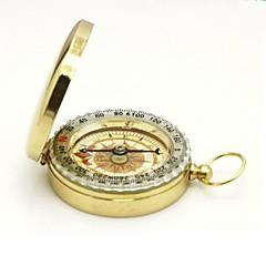 Flip-Open Gold Plated noctilucent Pocket Compass