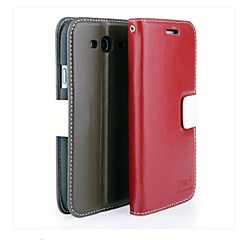 Deluxe Genuine Cowhide Flip Leather Wallet Cover Case For Samsung Galaxy Note i9220 GT-N7000