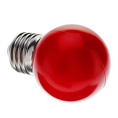 0.5W E26/E27 LED Globe Bulbs G45 7 Dip LED 50 lm Red Decorative AC 220-240 V