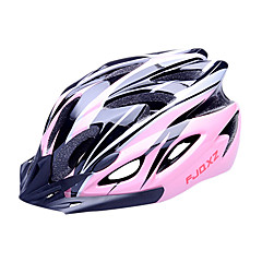 FJQXZ EPS + PC Pink Integraal gegoten fietshelm (18 Vents)