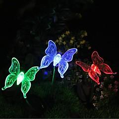 Solaire changeant de couleur Butterfly Garden Stake lumière