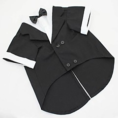 Dog Costume / Tuxedo Black / Gray Dog Clothes Summer / Spring/Fall Solid Wedding / Cosplay