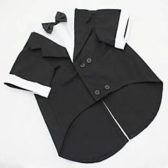 Perros Disfraces / Esmoquin Negro / Gris Ropa para Perro Verano / Primavera/Otoño Un Color Boda / Cosplay