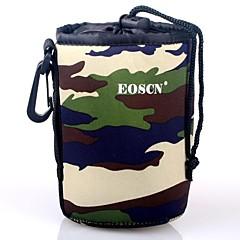 EOSCN Camouflage Pattern Beskyttende neopren veske for DSLR kamera Lens - Grønn (størrelse M)