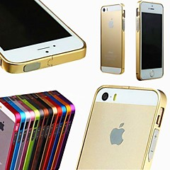 maylilandtm sólida caixa de metal no vidro traseiro para iphone 5 / 5s (cores sortidas)