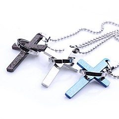 Classic Personalized Cross Bibles Stainless Steel Jewelry  Pendant Necklace with 60 cm Chain