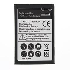 1500mAh batterie de remplacement pour HTC Touch 4G Pro2/EVO