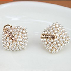 Pearl Diamond Stud Earrings