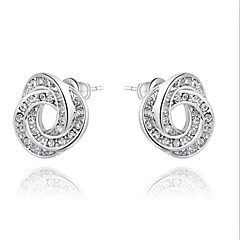 Gorgeous Fashion Jewelry Silver plated Gold plated with Rhinestone Stud Earrings(one pair)