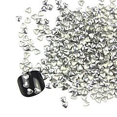 300kpl 3D Silver Love-sydän Alloy Nail Art Golden & hopeakoristeita