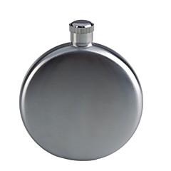Ronda portátil con estilo en forma de acero inoxidable del pote del vino del frasco - Plata (150 ml / 5 oz)
