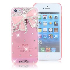 HOHONG (TM) Crystal Case strass Broche Bow Bling pour l'iPhone 5S / 5G