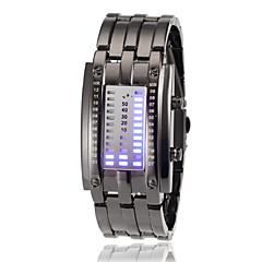 Chiffre d'affichage du Femmes Bleu LED Digital Steel Band Wrist Watch (couleurs assorties lumière)
