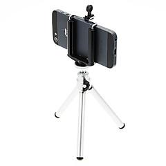 I-12-3-SL Desktop Mini Tripé de alumínio com um único convés três seções (Sliver) e Mobile Phone Tripod Mount Holder