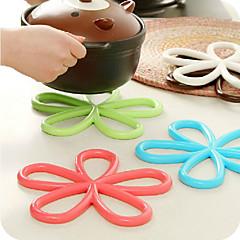 Flower Design Solid Color Hot Pat (tilfældig farve)
