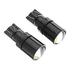 T10 2W 6000K studená bílá Světelný LED žárovky pro auta (12V, 2ks)