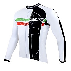 PALADIN Bike/Cycling Jersey / Tops Men's Long Sleeve Breathable / Ultraviolet Resistant / Quick Dry / Thermal / Warm 100% Polyester