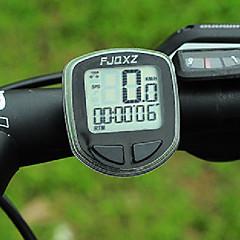 FJQXZ Hög kvalitet Vattentät Wired Black Bicycle Hastighetsmätare / Tidtagarur