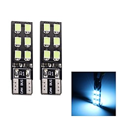 Liquidation MerdiaT10 3.5W 180LM 12x2835SMD LED Ice Blue Light Lamp / Lampe Instrument (Pair/12V)