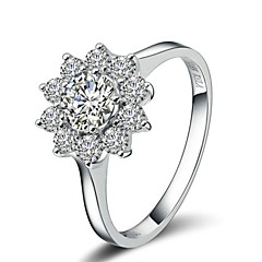 Exquisite Bridal Ring 18K White/Rose Gold Plated Austria Crystal Sunflower Rhinestone Wedding Ring