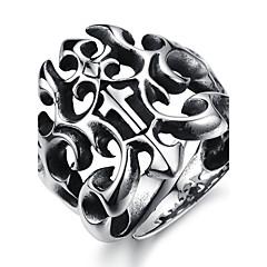 Anéis Pesta / Diário / Casual / Esportes Jóias Aço Titânio Masculino Anéis Grossos7 / 8 / 9 / 10