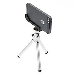 I-12-2-SL Mini Desktop aluminium stativ med Single-dekk to seksjoner og iPhone 5S / 5 Tripod Mount Holder