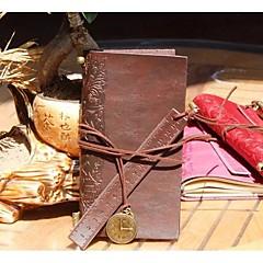 Vintage en cuir pour ordinateur portable bloc-notes avec cuir souverain signets (couleur aléatoire)