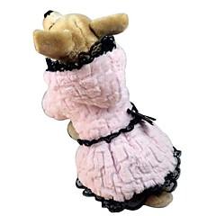 exclusivo algodón de la capa rica de terciopelo para perros mascotas