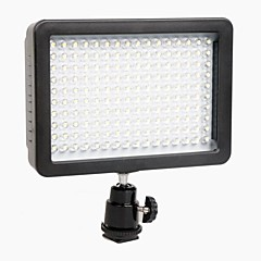 WanSen W160 LED videolys Lampe 12W 1280LM 5600K/3200K lysdæmpes til Canon Nikon Pentax DSLR kamera Video Light Wholesale