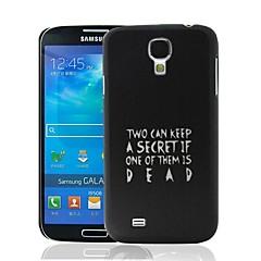 Étui rigide Pretty Little Liars Citation de modèle en plastique pour Samsung Galaxy i9500 S4