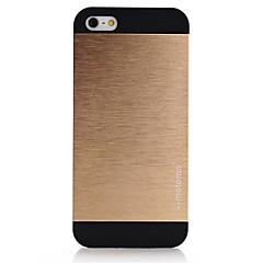 Mert iPhone 5 tok Tükör Case Hátlap Case Egyszínű Kemény Alumínium iPhone SE/5s/5