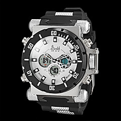 Men's Watch Military Style Dual Times Zones Water Resistant Multifunction