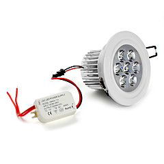 7W LED Recessed Lights / LED Ceiling Lights Recessed Retrofit 7 High Power LED 630 lm Natural White AC 85-265 V