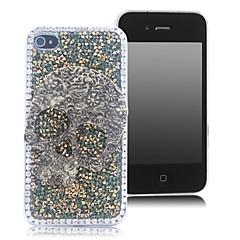 HOHONG (TM) Bling Camouflage Flower Skull Luxury Rhinestones Case for iPhone 4S / 4G