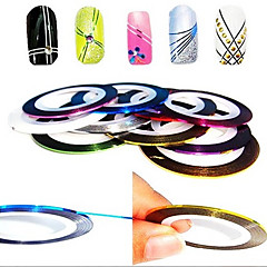 12szt 12-Kolor Pasy Linia Tape Taśma Stripe paznokci Nail Art Decoration Sticker