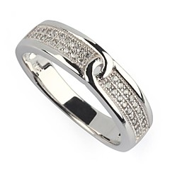 Ring Party / Daily / Casual Jewelry Silver Plated Women Band Rings6 / 7 / 8 / 9 Silver