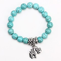 Coway3000023 Simple Turquoise Elephant Bracelet