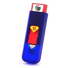 Superman USB cigarette rechargeable Mini sans flamme Briquet Electronique Peut bord de l'avion