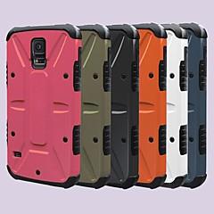 natusun ™ färg PU läder helkropps fallet med stativ och kamouflage intelligent stöd nfc för samsung s5 i9600