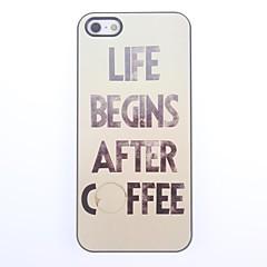 Café Projeto Alumínio Hard Case para iPhone 5/5S
