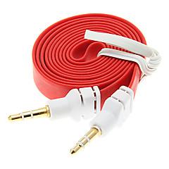 1M 3.3FT Noodle Flat Auxiliary Aux Audio Kabel 3,5 mm Jack Male naar Male Cord