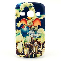 Flying Elephant Cartoon Pattern Hard Case for Samsung Galaxy Fame S6810/S6818