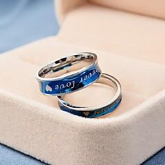 Korean Style Forever Love Titanium Steel Couple Rings