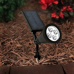 4-LED Outdoor Solar Power Spotlight Landscape Spot Light Garden Lawn Flood Lamp