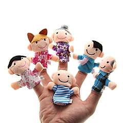Parents-enfants Peluche Finger Puppets