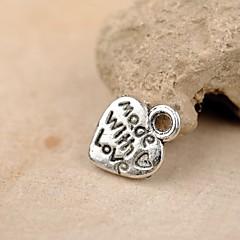 Eruner®12*10MM Alloy Heart Charms Pendants Jewelry DIY (20PCS)
