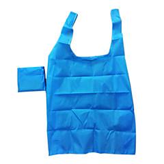 Eco-friendly Waterproof Solid Color Folding Shopping Bag(Random Color)